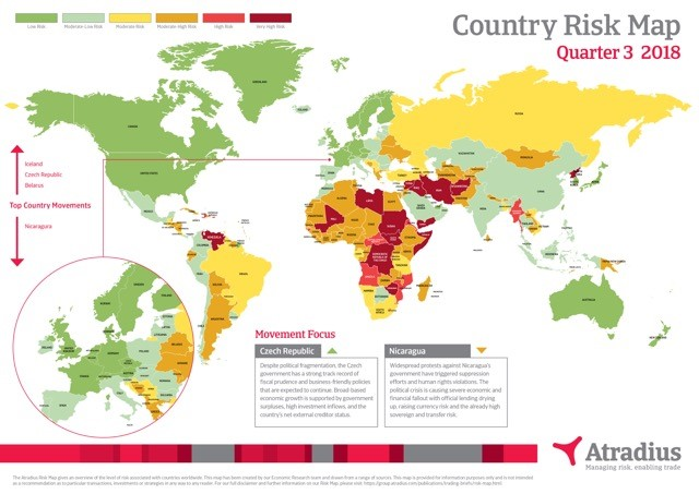 Atradius Risk Map Q3 2018