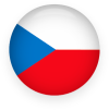 Czech flag button round small