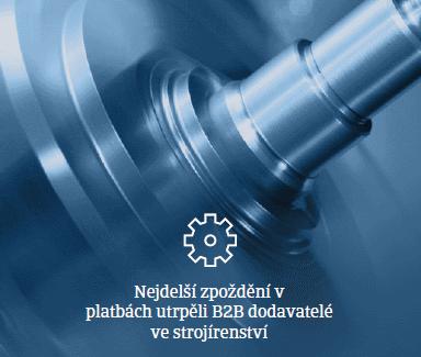 Zpoždění v platbách ve strojírenství v ČR